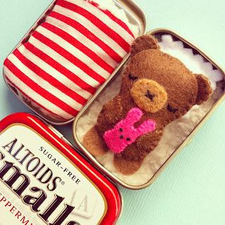 toy in a tin teddy bear DIY