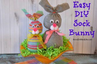 No Sew Sock Bunny