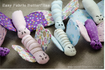 Easy DIY Fabric Butterflies