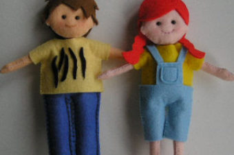Felt Fashion Dolls
