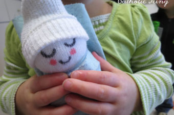 Baby Jesus Sock Doll Tutorial
