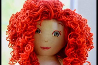 making curly hair for your doll