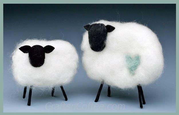 Craft a springtime lamb