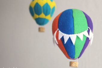 Felt hot air balloon tutorial