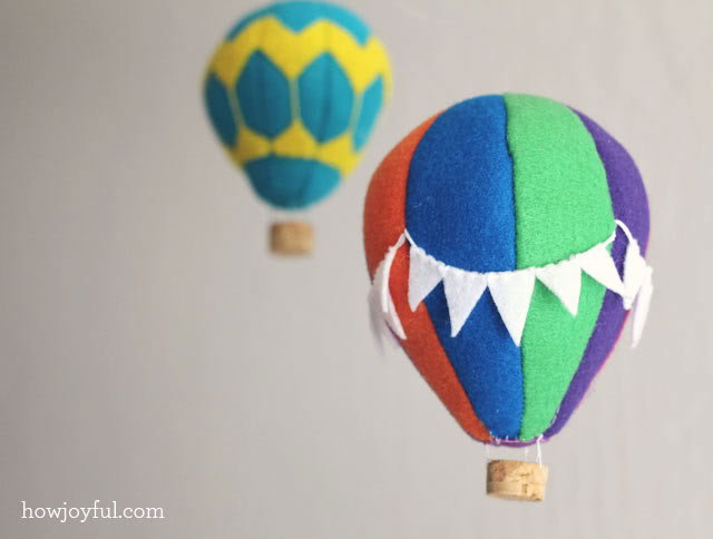 Felt hot air balloon tutorial