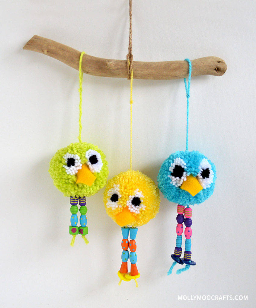 How to make – Pom Pom Bird Craft