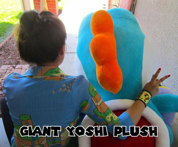 Giant yoshi plush plushie patterns for Yoshi plush template