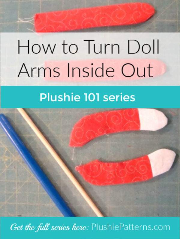 how to turn doll arms inside out