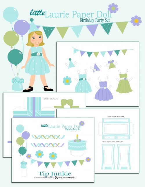 Birthday Paper Doll Free Printable