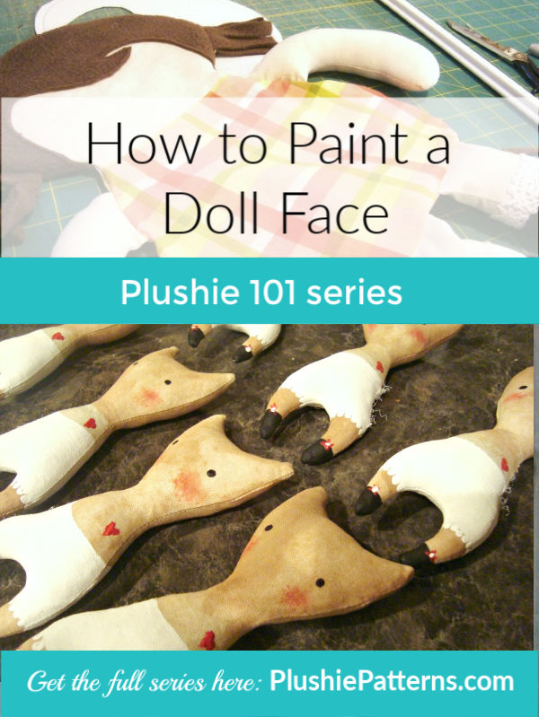 How to Paint a Fabric Doll Face
