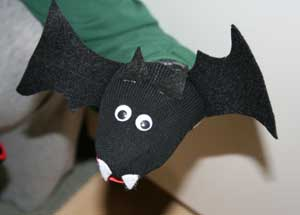 DIY a Halloween Sock Bat