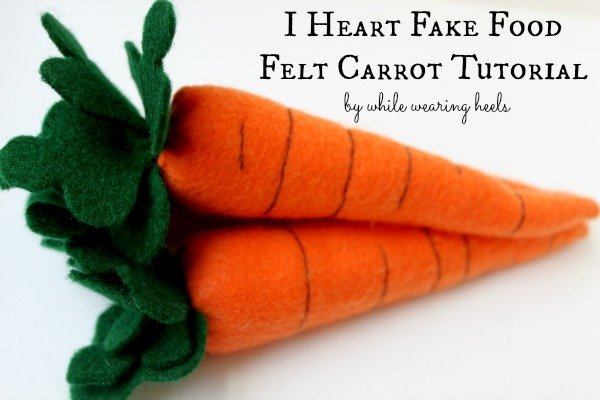 How To Sew Felt Carrots