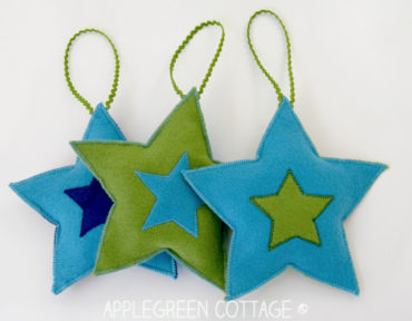 DIY Christmas Decorations – Felt Stars Free Pattern