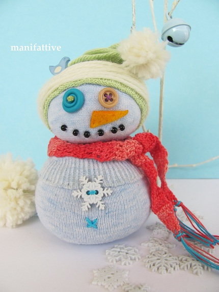snowman sock doll tutorial